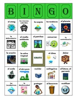 BINGO:  El Medio Ambiente