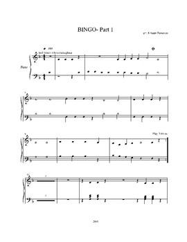 BINGO Elementary Level Piano Trio
