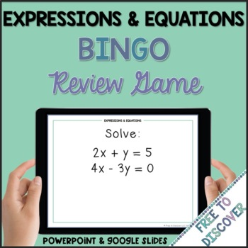 Expressions & Equations Review Game (8th Grade)