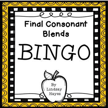BINGO: Final Consonant Blends