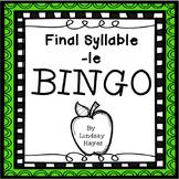 BINGO: Final Syllable -le