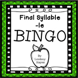 BINGO: Final Syllable -le
