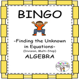 Find the Unknown in Equations (Division & Multi-Step) BING