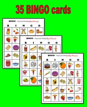 BINGO:  Food and Drinks (Spanish Vocabulary)