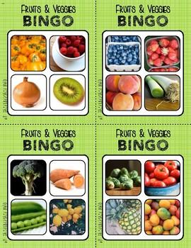 BINGO: Fruits & Veggies | 2x2