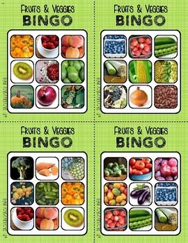 BINGO: Fruits & Veggies   3x3