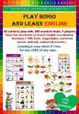 BINGO GAME ENGLISH VOCABULARY