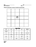 BINGO GAME for Math 8 Transformations, Equations, Exponent