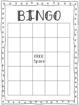 BINGO Game Boards-freebie!