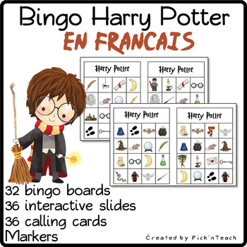 BINGO Harry Potter - EN FRANCAIS