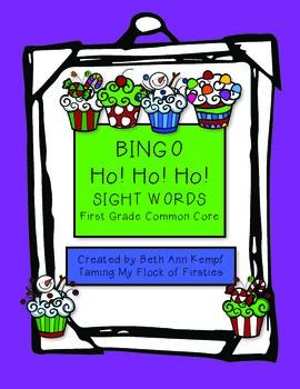 BINGO Ho! Ho! Ho! First Grade Sight Words (Common Core Standards)
