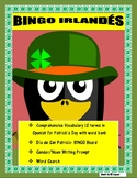 BINGO IRLANDÉS- Irish BINGO-Review Colors/Gender/Nouns- St. Patrick's in Spanish
