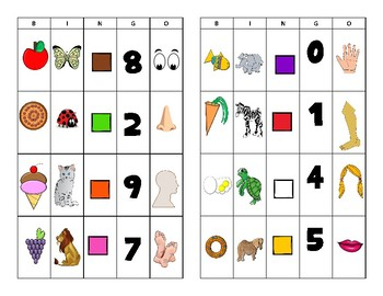 BINGO! Intro Spanish: Numbers, Colors, Animals, Foods, Body Parts