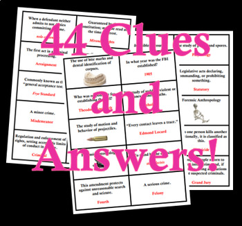 BINGO! Introduction to Forensics and the Law