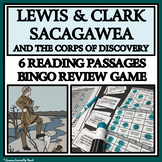 LEWIS AND CLARK, SACAGAWEA, THE LOUISIANA PURCHASE - Reading Passages and Bingo