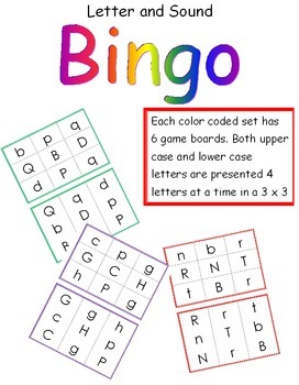 BINGO!  Learning the Letters and Sounds