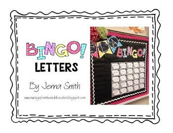 BINGO! Letters for a Bulletin Board