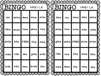 BINGO: Long i: i_e