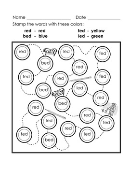 BINGO Markers Stamp Out the Sounds - Short e Word Families