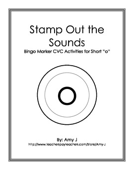 BINGO Markers Stamp Out the Sounds - Short o Word Families