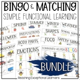 BINGO & Matching Games BUNDLE for Special Education