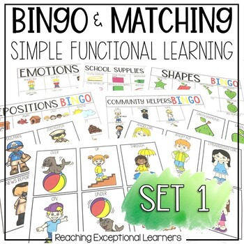 BINGO & Matching Games for the Special Education Classroom SET 1