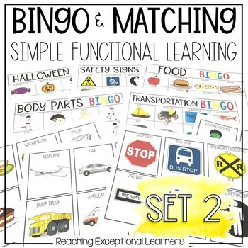 BINGO & Matching Games for the Special Education Classroom SET 2