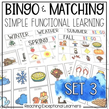 BINGO & Matching Games for the Special Education Classroom