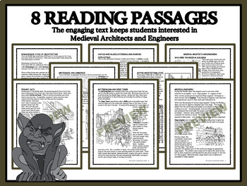 READING PASSAGES AND BINGO - Medieval Castles; Architects and Engineers