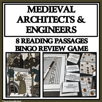 READING PASSAGES AND BINGO - Medieval Castles; Architects