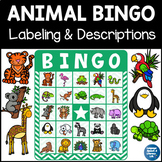 Animal Bingo for Vocabulary and Descriptions