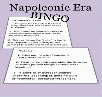 Napoleonic Era BINGO