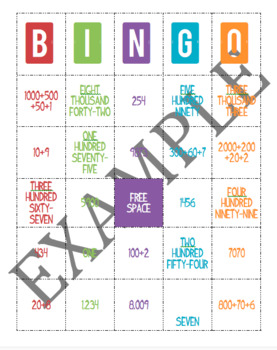 BINGO Number Forms