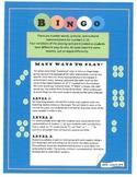 BINGO!- numerals, dots, and number words
