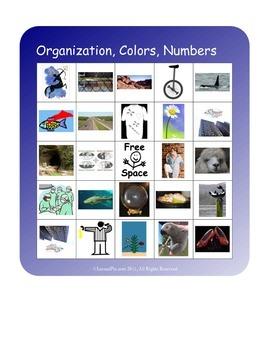BINGO!  Organization of the Body, Color Prefixes, Number Prefixes