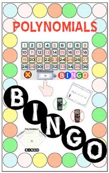 BINGO - POLYNOMIALS (Smart Notebook Version) + 24 BINGO MATS