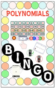 BINGO - POLYNOMIALS (Smart Notebook Version) + 24 BINGO MATS