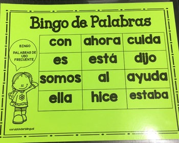 BINGO~~Palabras de Alta Frecuencia~~