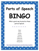 BINGO : Parts of Speech game
