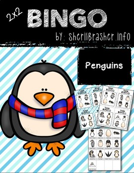 BINGO: Penguin with Clipart | 2x2