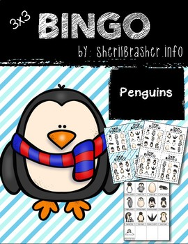 BINGO: Penguin with Clipart | 3x3