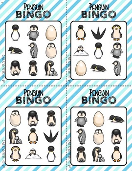 BINGO: Penguin with Clipart | 3x3