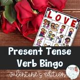 BINGO: Present Tense Verb Endings Valentine's Edition