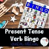 BINGO: Present Tense Verb Endings Winter Edition