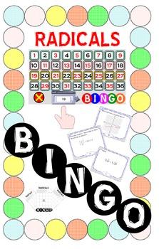 BINGO - RADICALS (Smart Notebook Version) + 24 BINGO MATS
