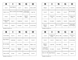BINGO Review: Parallel Lines and Transversals