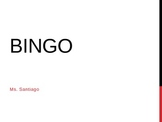 BINGO Review: Parallel Lines and Transversals POWERPOINT