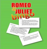 Romeo and Juliet:  Characters and Literary Devices BINGO