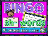 PHONICS BINGO: SH- WORDS BINGO: INITIAL SH WORDS GAME
