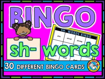 PHONICS BINGO: SH- WORDS BINGO: INITIAL SH WORDS GAME